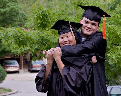 college grad happiness