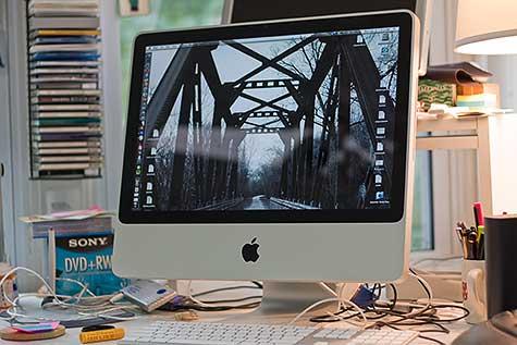 iMac on desk