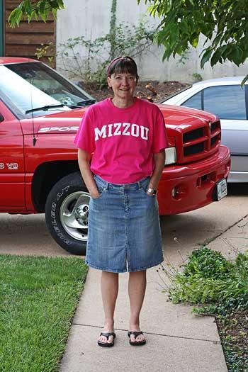 pink mizzou tshirt