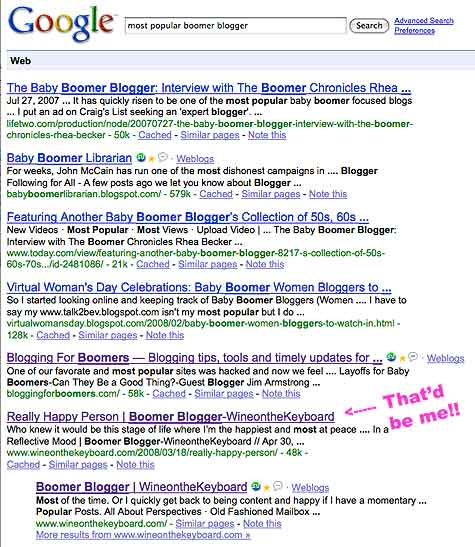 Most popular boomer blogger