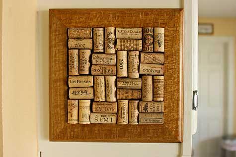 wine trivet on cabinet