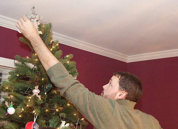 putting jack on the tree