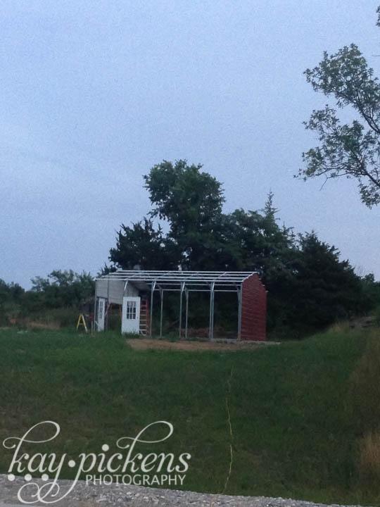 framing the barn