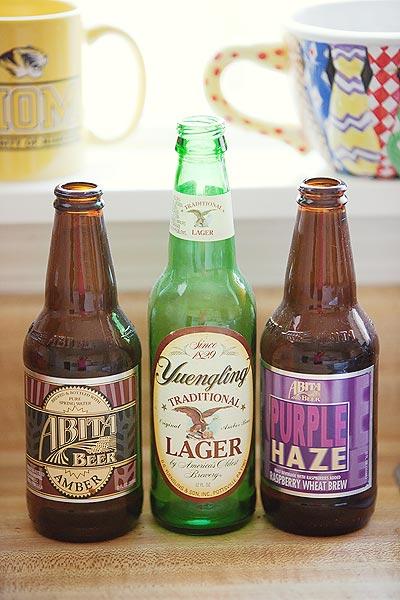 beer bottles Abita Yuengling