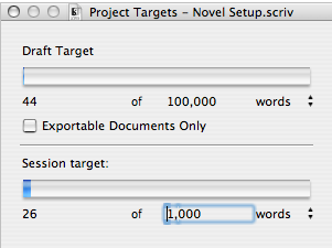 Scrivener Targets