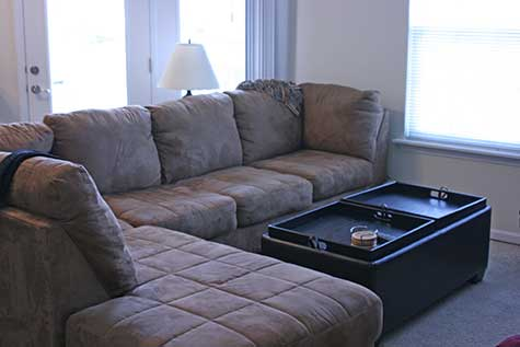 couch in apartment