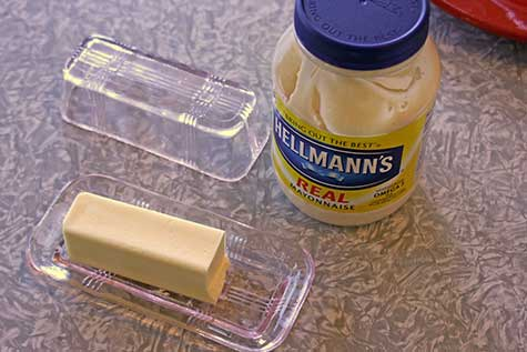 butter and mayo