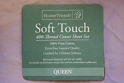 cotton sheet label