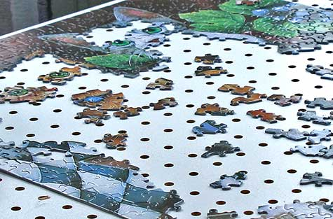 jigsaw puzzle with cats