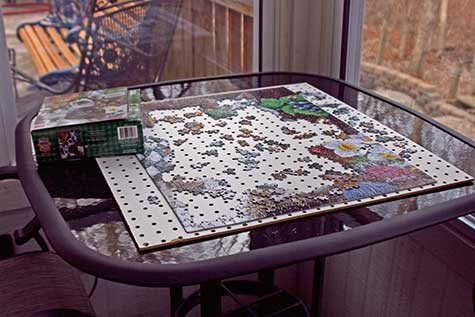 jigsaw puzzle on the table