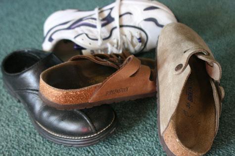 Sensible comfortable shoes
