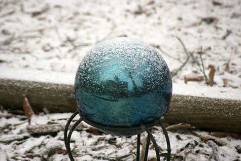 snowy reflection ball