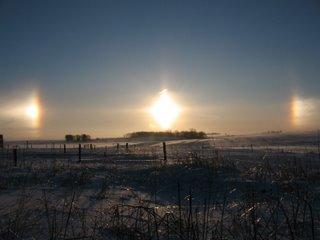 sun dogs over Iowa