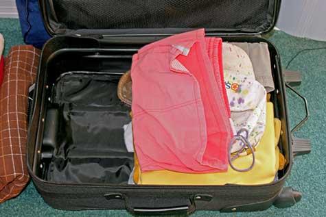 half a suitcase