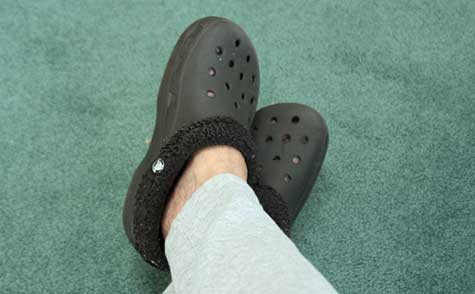 winter crocs