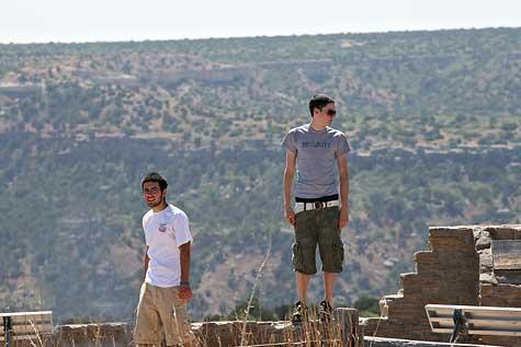 standing on ledge