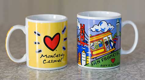 california vacation mugs