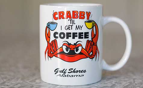 crabby coffee cup