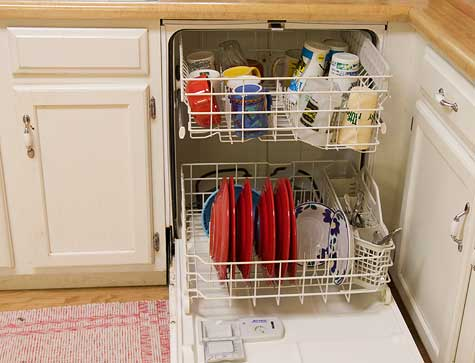 dishwasher loaded with dishes
