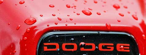 water drops on Dodge truck