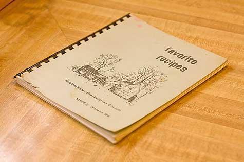old church recipe book