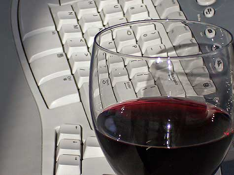wine on the keyboard