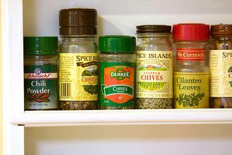 homemade spice rack