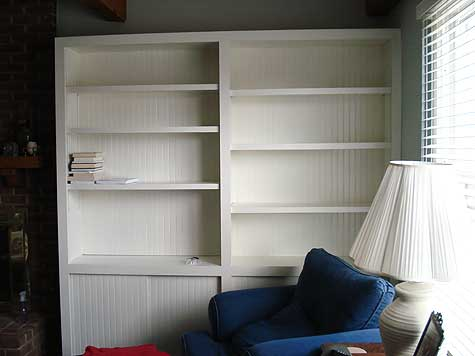 homemade bookcase