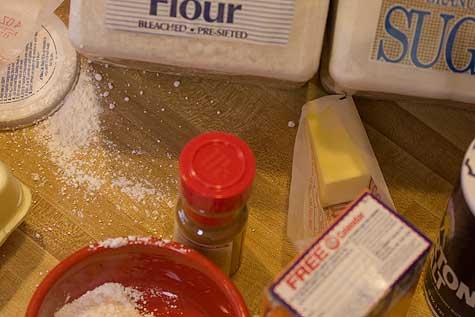 powered sugar mess