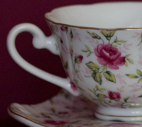 antique teacup closeup