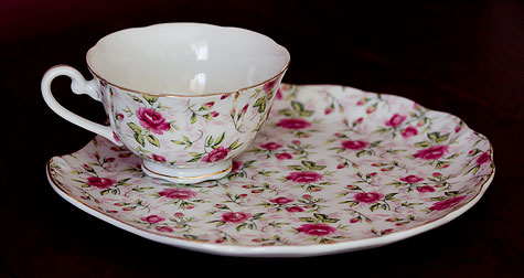 antique teacup and snack saucer