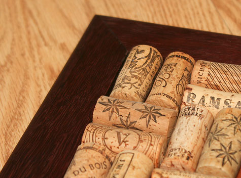 wine trivet closeup