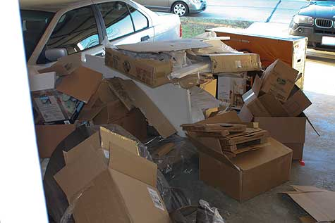 boxes in garage