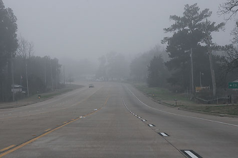 foggy texas roads