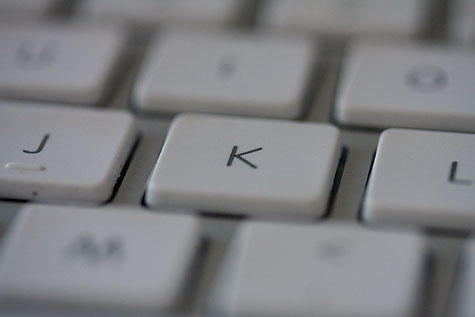 k key on keyboard
