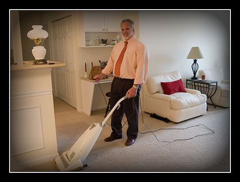 male-vacuuming