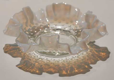 milk glass bowl reflection