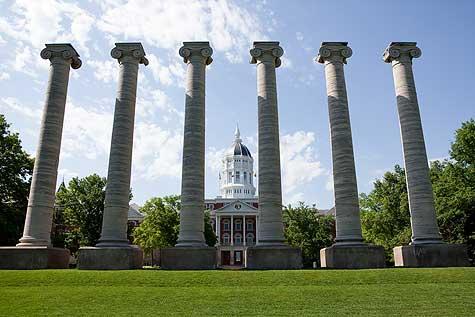 jesse hall and columns