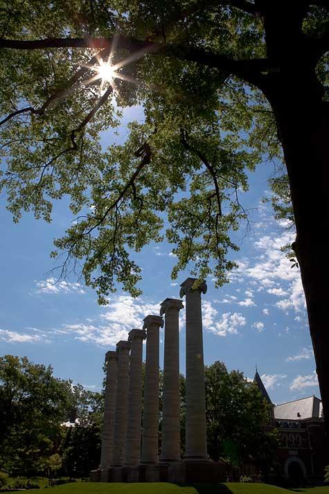 sun flare mizzou columns