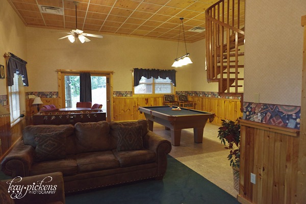game room at Oak Haven Resort