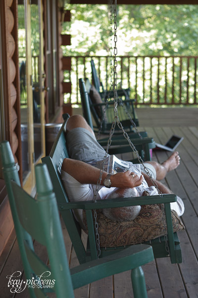 resting on the porch