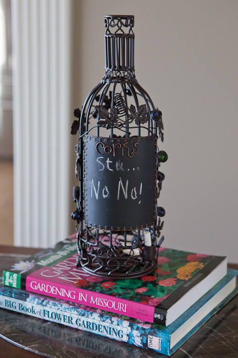 wine cork holder with chalkboard