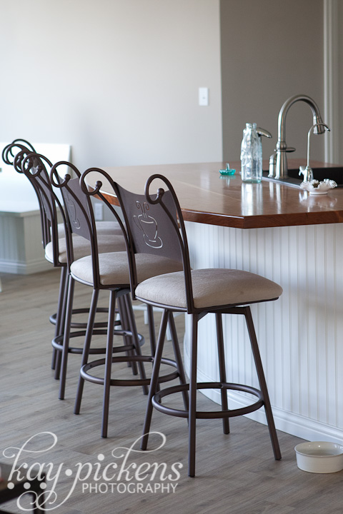 barstools at kitchen island