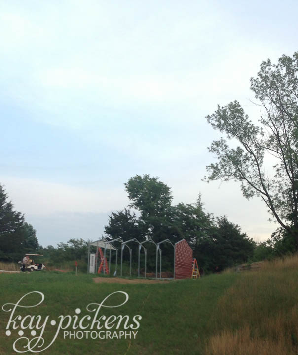 barn half built