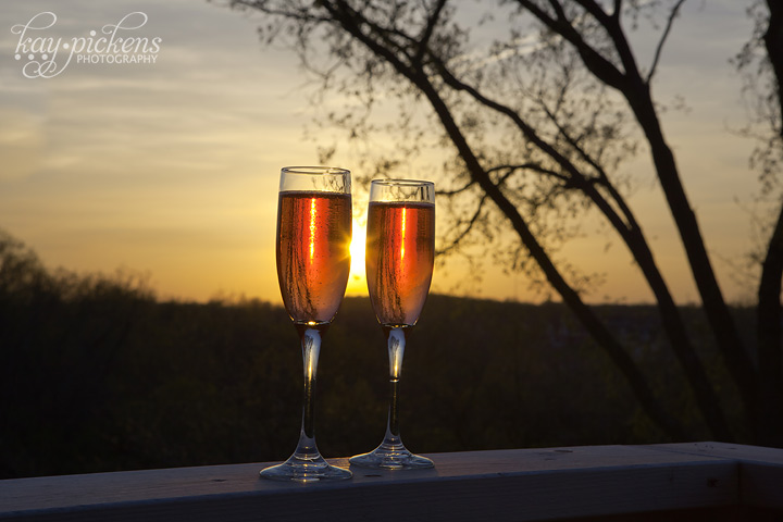 Champagne for Two at Sunset