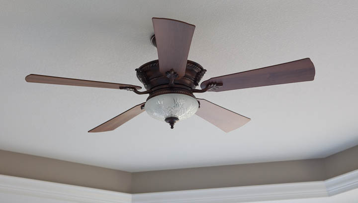 ceiling fan with cut glass