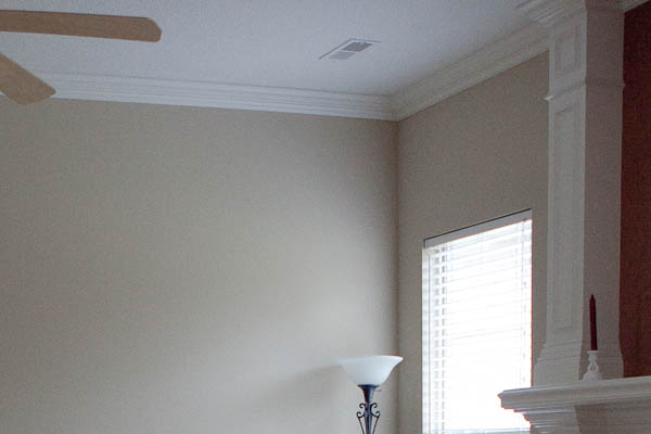 Crown molding in family room