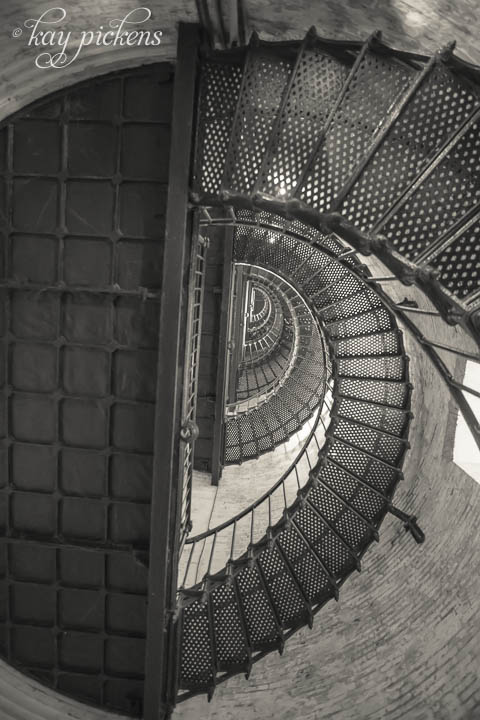 Currituck Lighthouse Stairs Fine Art Photography