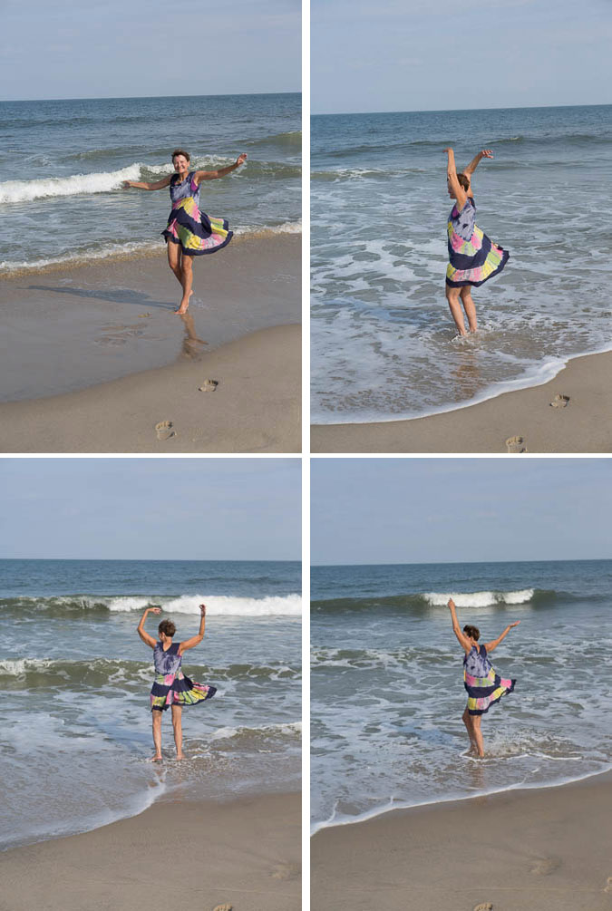 Dancing on the beach in Hatteras