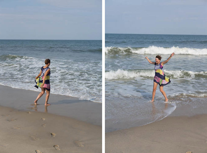 Dancing on the beach in the Outer Banks